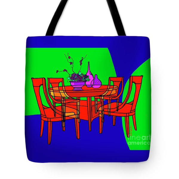 The Red Table Tote Bag