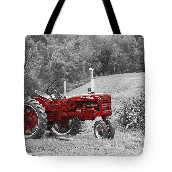 The Red Tractor Tote Bag