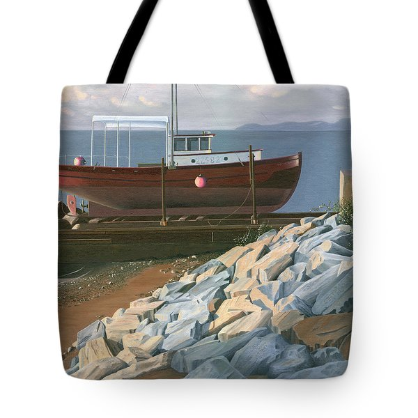The Red Troller Revisited Tote Bag by Gary Giacomelli