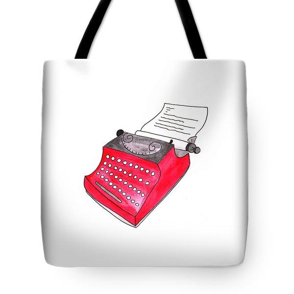 The Red Typewriter Tote Bag