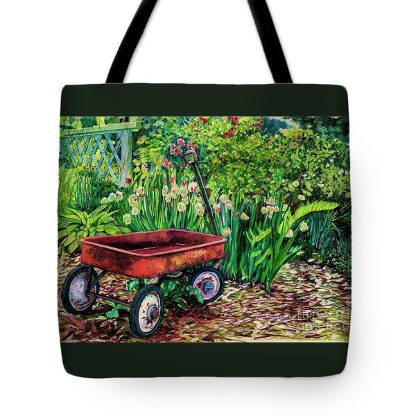 The Red Wagon Tote Bag