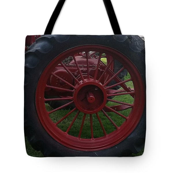 The Red Wheel Tote Bag