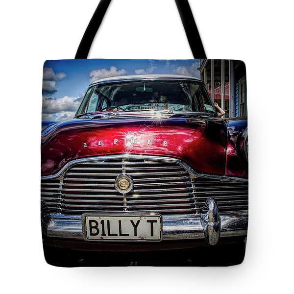 The Red Zephyr Tote Bag