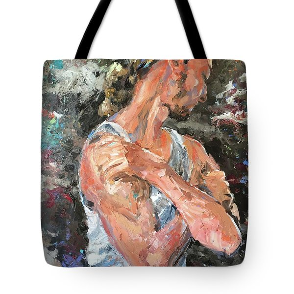 The Reflective Pause Tote Bag by Diane Daigle