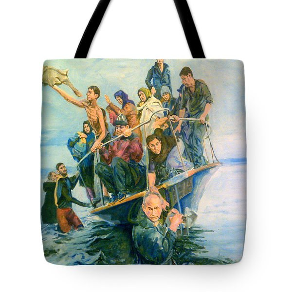 The Refugees Seek The Shore Tote Bag