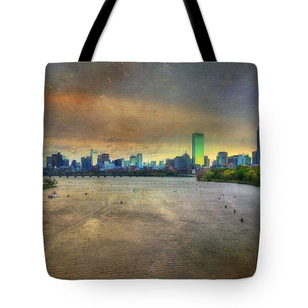 Tote Bag featuring the photograph The Regatta - Head Of The Charles - Boston by Joann Vitali