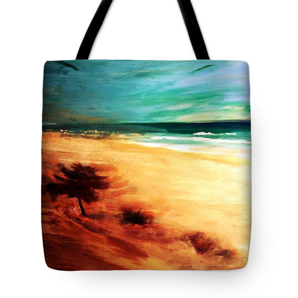 Tote Bag featuring the painting The Remaining Pine by Winsome Gunning