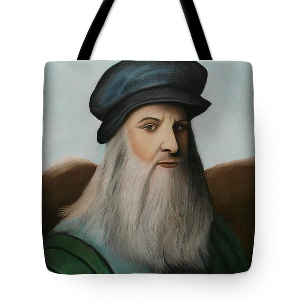The Master Of Renaissance - Leonardo Da Vinci  Tote Bag by Vishvesh Tadsare