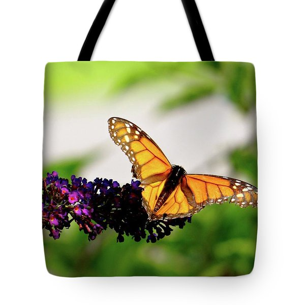 The Resting Monarch Tote Bag