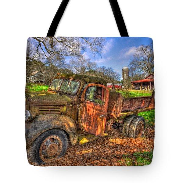 The Resting Place 1947 Dodge Dump Truck Georgia Farm Art Tote Bag