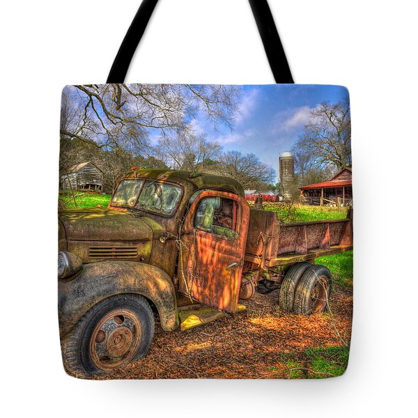 The Resting Place 2 Boswell Farm 1947 Dodge Dump Truck Tote Bag