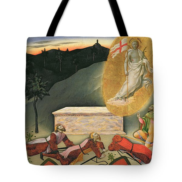 The Resurrection Tote Bag by Master of the Osservanza