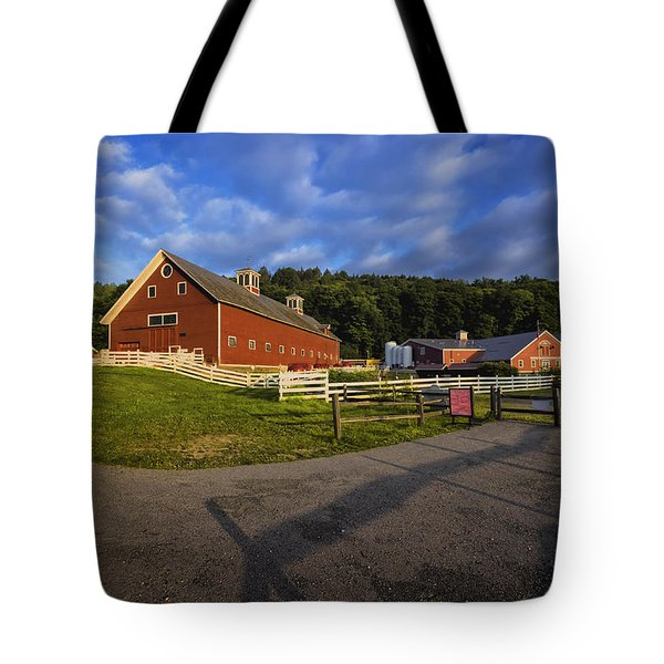 Tote Bag featuring the photograph The Retreat Farm by Tom Singleton