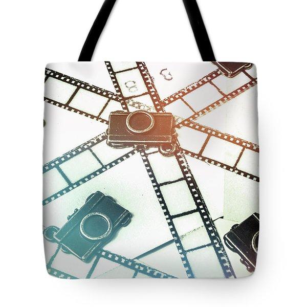 The Retro Camera Reel Tote Bag