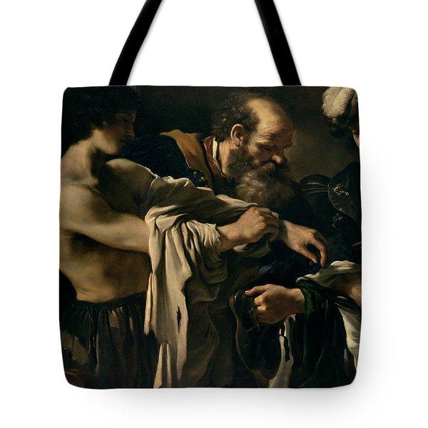 The Return Of The Prodigal Son Tote Bag by Giovanni Francesco Barbieri
