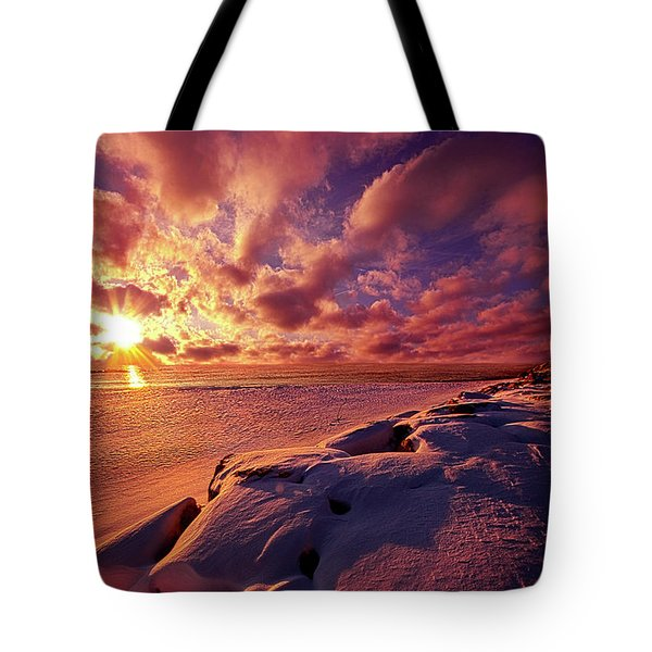 Tote Bag featuring the photograph The Return by Phil Koch