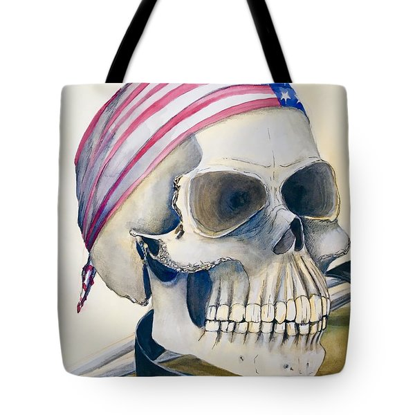 The Rider's Skull Tote Bag