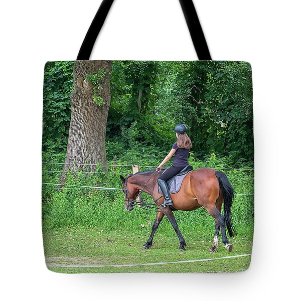 The Riding School In Suburb Tote Bag