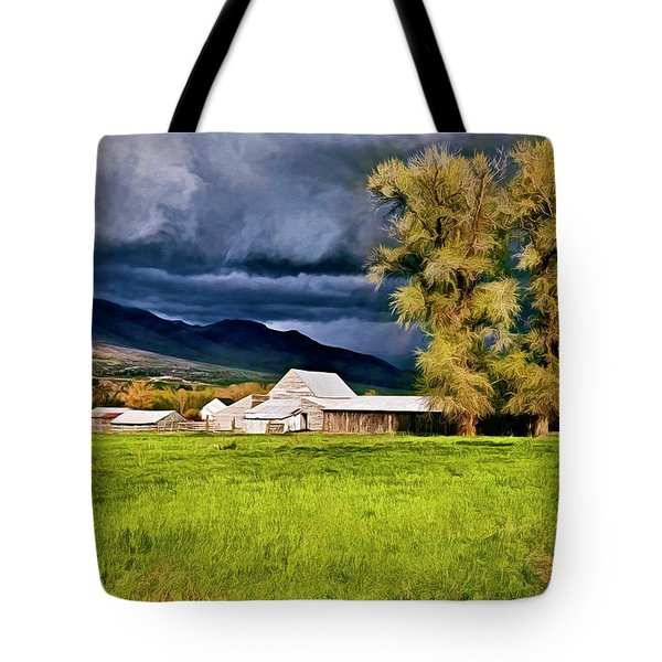The Right Place At The Right Time Tote Bag by James Steele