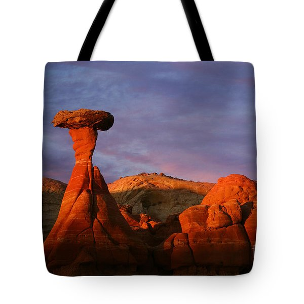 Tote Bag featuring the photograph The Rim Rocks by Keith Kapple
