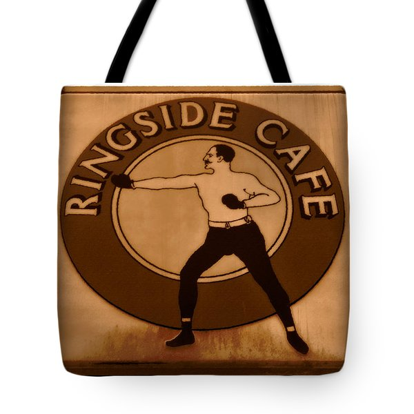 The Ringside Cafe Tote Bag by David Lee Thompson