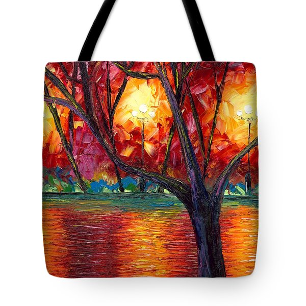 Tote Bag Featuring The Painting Rise Of Fall By Jessilyn Park