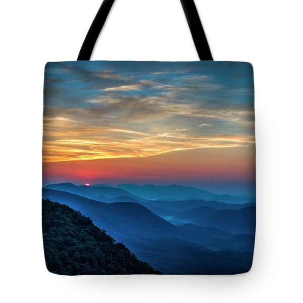 The Rising Sun Pretty Place Chapel Greenville S C Great Smoky Mountain Art Tote Bag