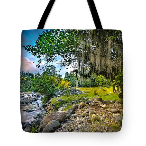 The River At Cocora Tote Bag