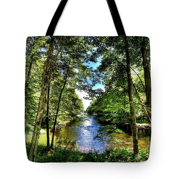 Tote Bag featuring the photograph The River At Covewood by David Patterson