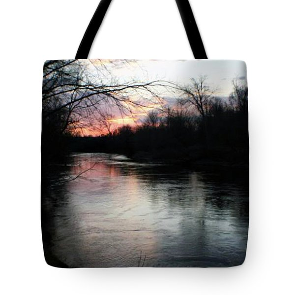 The River At Sunset Tote Bag