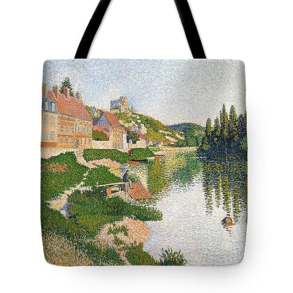 The River Bank Tote Bag by Paul Signac