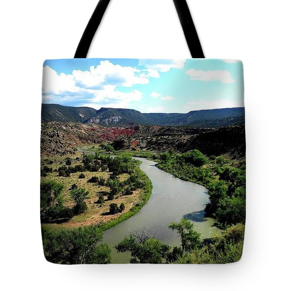 The River Chama At Red Rocks Tote Bag