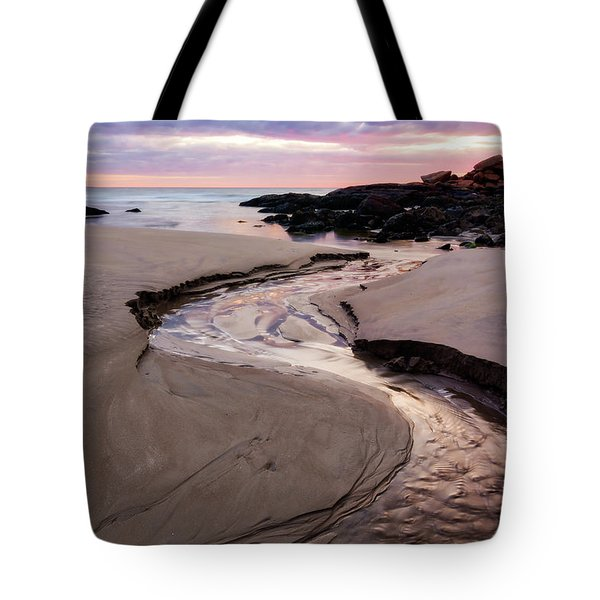 Tote Bag featuring the photograph The River Good Harbor Beach by Michael Hubley
