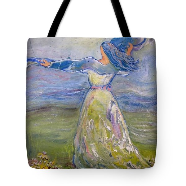 The River Is Here Tote Bag
