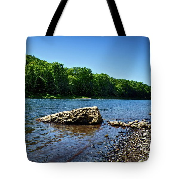 Tote Bag featuring the photograph The River's Edge by Mark Miller