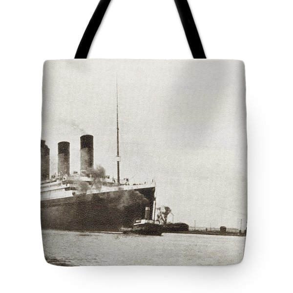 The Rms Titanic Of The White Star Line Tote Bag