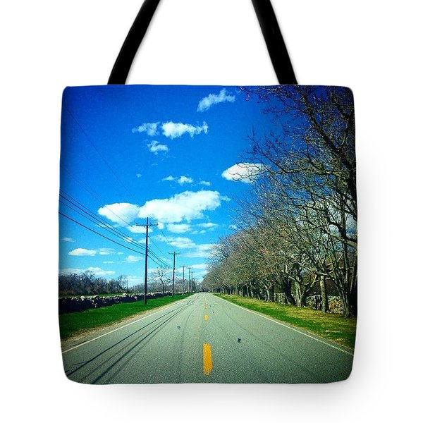 The Road Between  Tote Bag
