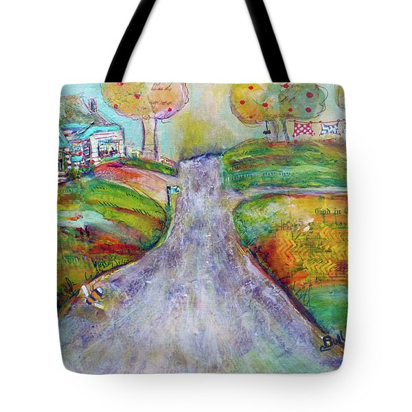 Tote Bag featuring the painting The Road Home by Claire Bull