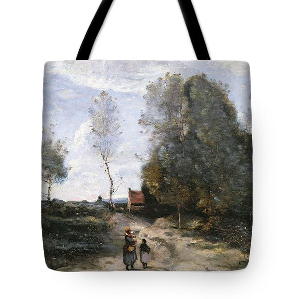 The Road Tote Bag by Jean Baptiste Camille Corot
