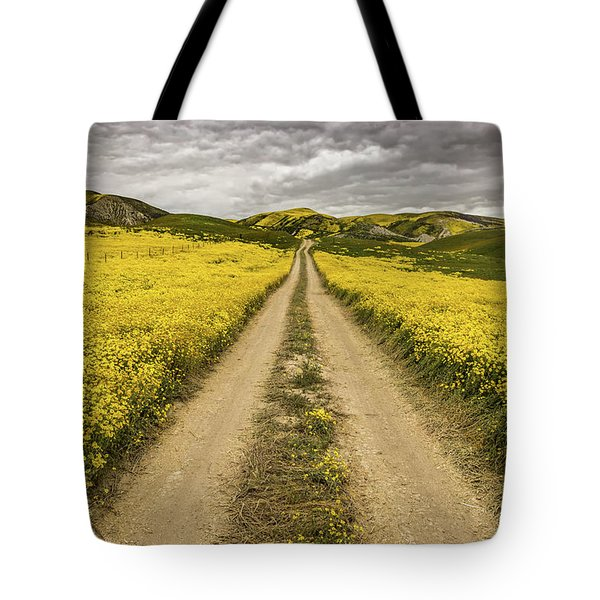 Tote Bag featuring the photograph The Road Less Pollenated by Peter Tellone