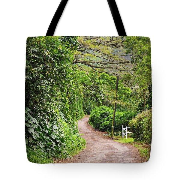The Road Less Traveled-waipio Valley Hawaii Tote Bag