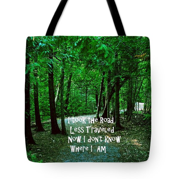 The Road Less Traveled Tote Bag by Gary Wonning