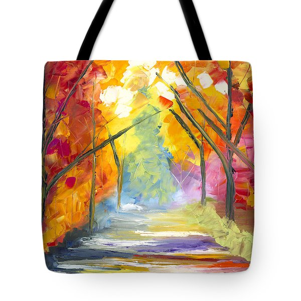 The Road Less Traveled Tote Bag by Jessilyn Park