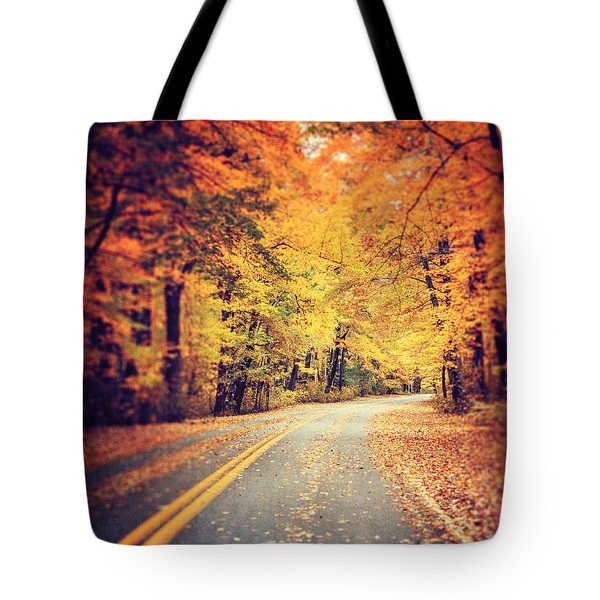 The Road Less Traveled Tote Bag by Lisa Russo