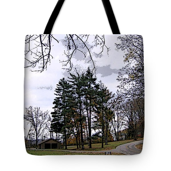 Tote Bag featuring the photograph The Road Not Taken by Skyler Tipton