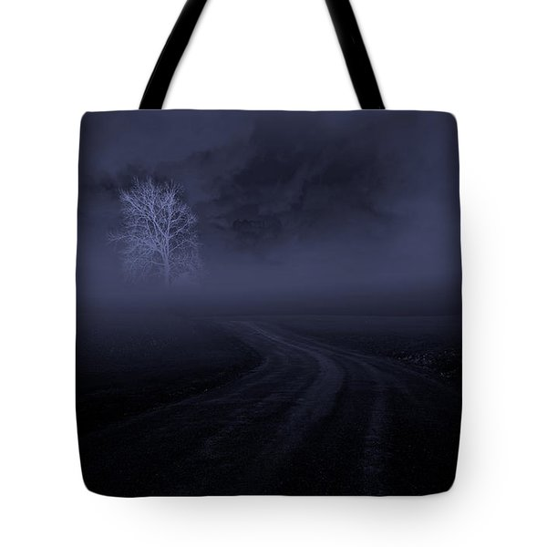 Tote Bag featuring the photograph The Road by Robert Geary