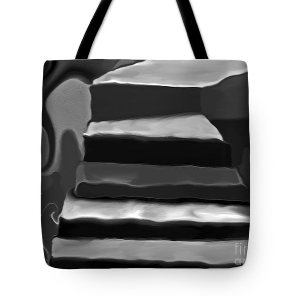 Tote Bag featuring the mixed media The Road To Despair by Patricia Griffin Brett