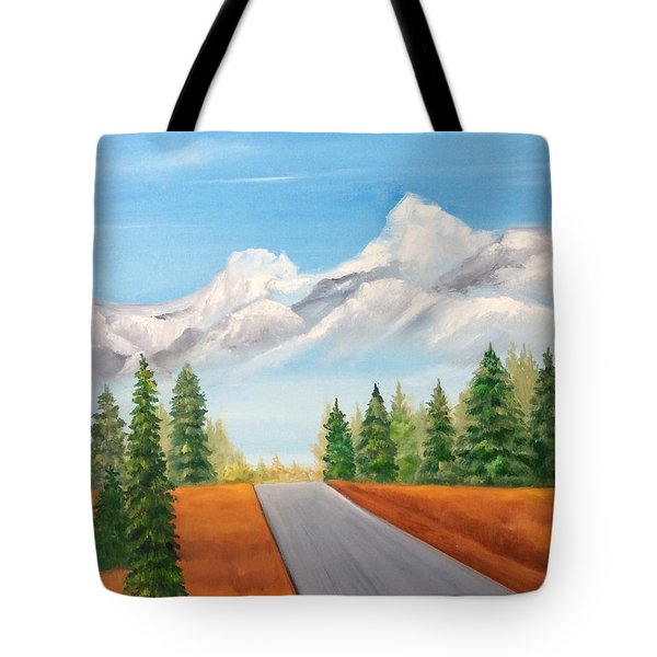 The Road To Lake Louise Tote Bag