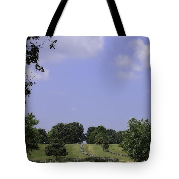 The Road To Lynchburg From Appomattox Virginia Tote Bag by Teresa Mucha