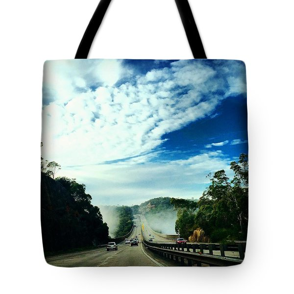 The Road To Newcastle Tote Bag